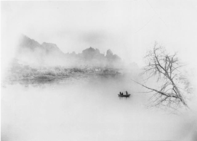 Fig. 4. Lang Jingshan, Yi zhou dang guo wanchong jiang (One Boat Crossing Thousands of Rivers), 1963, composite photograph.