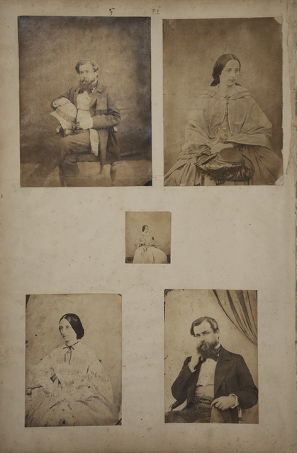 Fig 1 John Nicholas Tressider A Page From The Album Showing Portraits Of