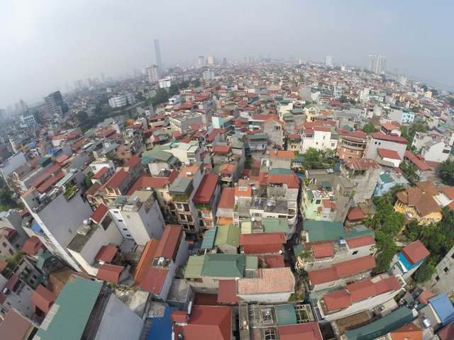 Fig. 1. Panoramic view of Ngoc Ha district, looking northwest, 2014 © Philippe Lê.