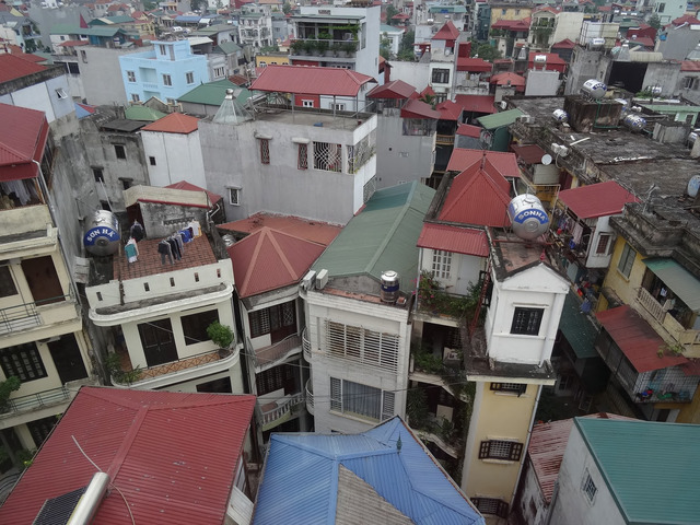 Fig. 3. Density of informal urban development in Ngoc Ha district, 2014 © Philippe Lê.