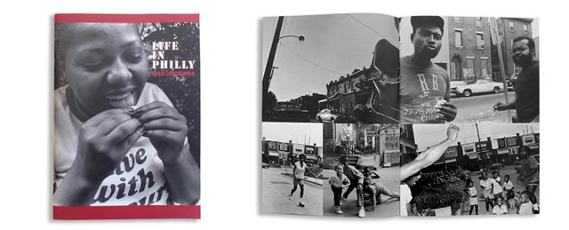 Fig. 7. Cover and page spread from Ishikawa Mao, Life in Philly (Tokyo: Zen Foto Gallery, 2010).
