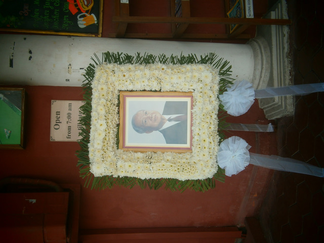 Fig. 3. Portrait of Norodom Sihanouk in a restaurant in Phnom Penh, photograph by the author, February, 2013.