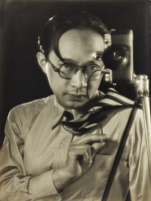 Fig. 19. Jin Shisheng, Self-portrait with Leica, Darmstadt, ca. 1940, gelatin silver print, courtesy of the estate of Jin Shisheng.