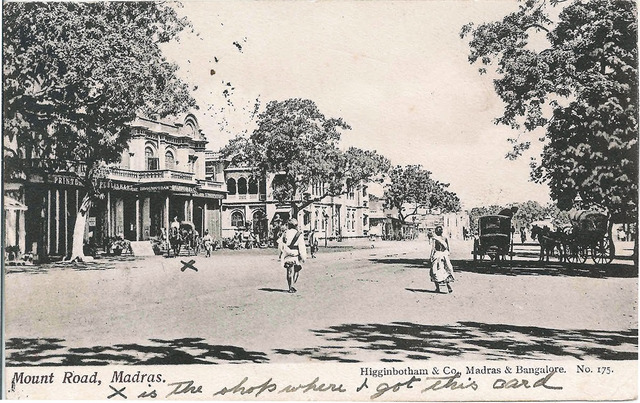 Fig. 4. Mount Road, Madras, published by Higginbotham & Co., Madras and Bangalore, from the private collection of Dr Stephen P. Hughes.