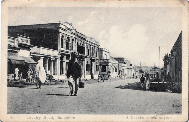 Fig. 6. Cavalry Road, Bangalore, published by S. Mahadeo & Son, Belgaum. From the private collection of Dr Emily Stevenson.