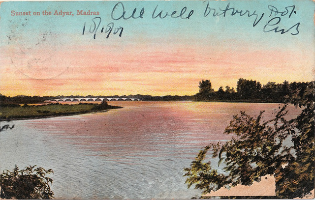 Fig. 15. Sunset on the Adyar, Madras, published by Spencer's & Co., Madras. From the private collection of Dr Emily Stevenson.