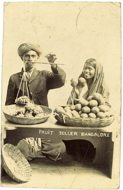 Fig. 17. Fruit Seller Bangalore, publisher unknown. From the private collection of Dr Stephen P. Hughes.