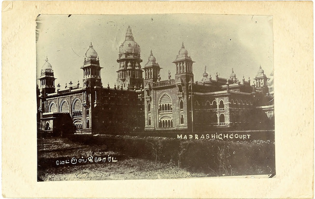 Fig. 27. Madras High Court [captioned in English and Tamil], publisher unknown. From the private collection of Dr Stephen P. Hughes.
