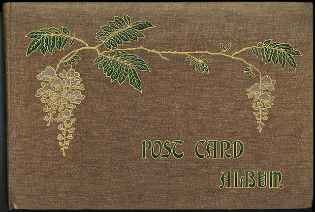 Fig. 36. Front cover of May Reynolds' postcard album. From the private collection of Dr Stephen P. Hughes.