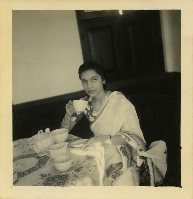 Fig. 3. Haleema Hashim, Kulsum Ahmed, c.1951, 6.35 x 6.35 cm., courtesy of Nihaal Faizal.