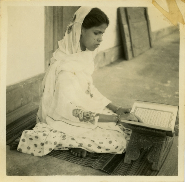 Fig. 4. Haleema Hashim, Selma Rehman, 1950s, 6.35 x 6.35 cm., courtesy of Nihaal Faizal.