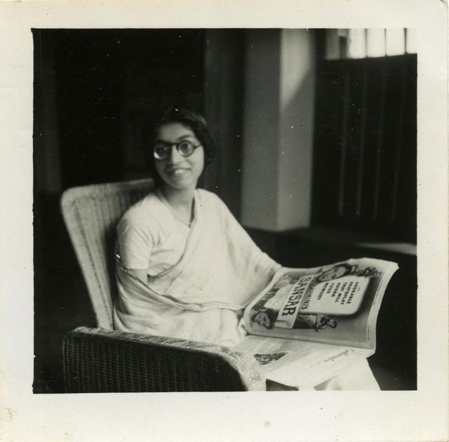 Fig. 5. Haleema Hashim, Zainab Usman, c.1951, 6.35 x 6.35 cm., courtesy of Nihaal Faizal.