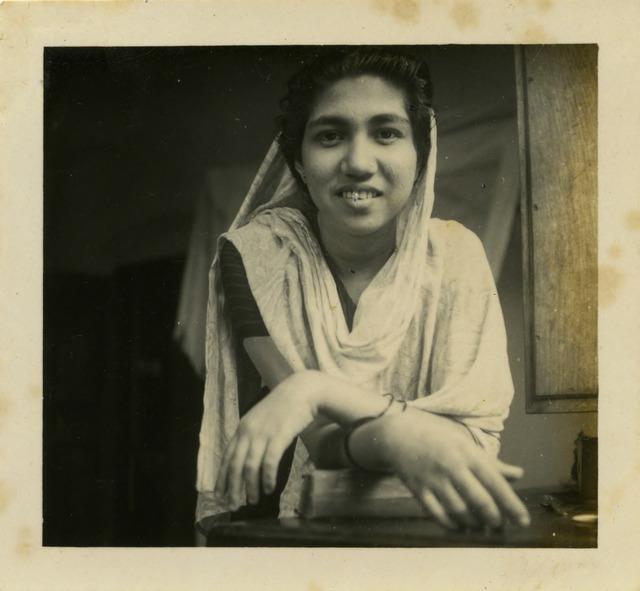Fig. 6. Haleema Hashim, Fathima Abdulla, 1950s, 6.35 x 6.35 cm., courtesy of Nihaal Faizal.