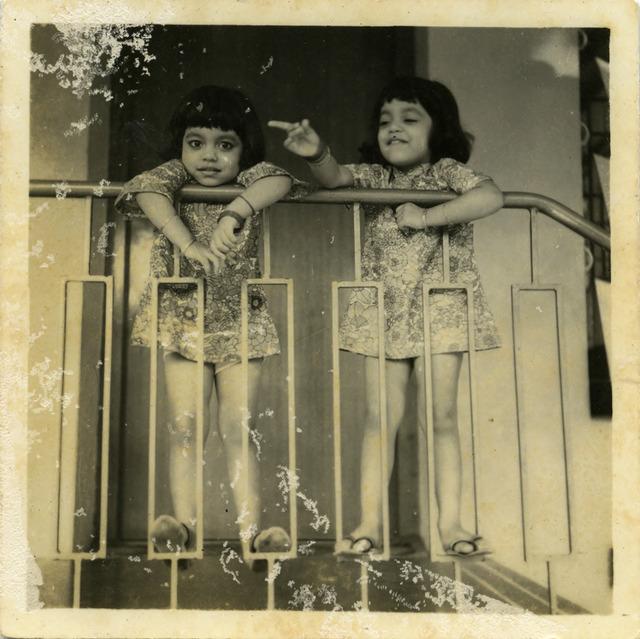 Fig. 10. Haleema Hashim, Suman Zia and Kiran Shakeel, 1960s, 6.35 x 6.35 cm., courtesy of Nihaal Faizal.