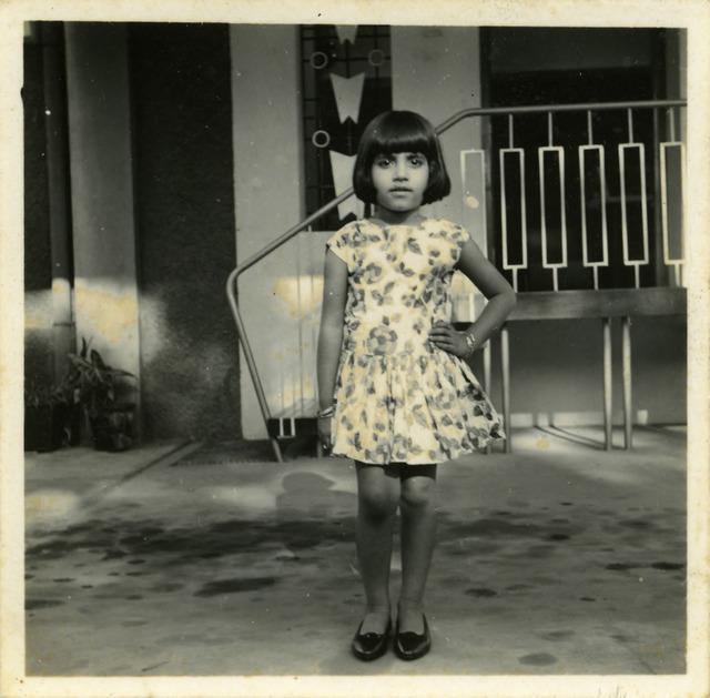 Fig. 12. Haleema Hashim, Naheed Nayeem, 1950s, 6.35 x 6.35 cm., courtesy of Nihaal Faizal.