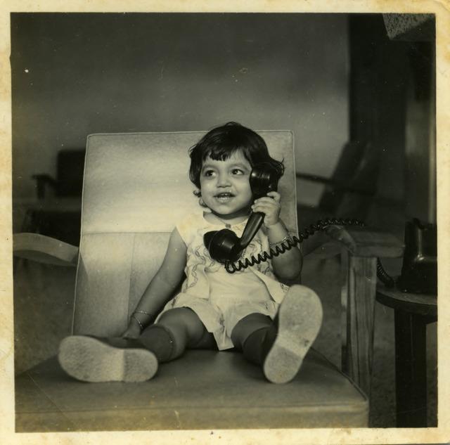 Fig. 16. Haleema Hashim, Kiran Shakeel, 1960s, 6.35 x 6.35 cm., courtesy of Nihaal Faizal.