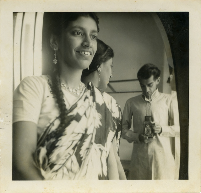 Fig. 22. Hashim Usman and Haleema Hashim, Self-portrait, c.1955, 6.35 x 6.35 cm., courtesy of Nihaal Faizal.