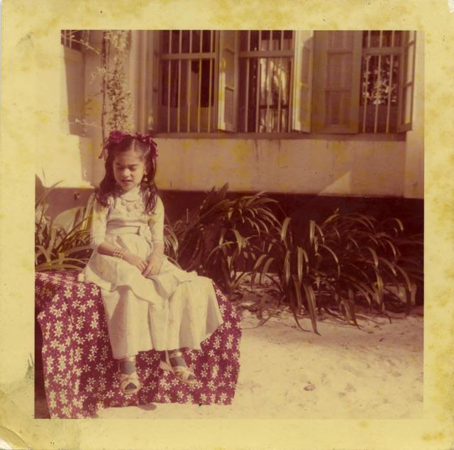 Fig. 23. Haleema Hashim, Firdaus Aslam, 1960s, 6.35 x 6.35 cm., courtesy of Nihaal Faizal.