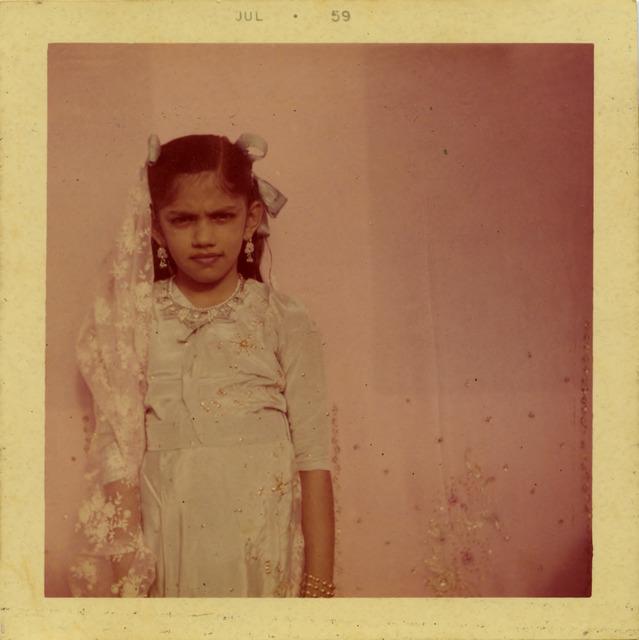 Fig. 24. Haleema Hashim, Yasmin Ismail, 1959, 6.35 x 6.35 cm., courtesy of Nihaal Faizal.