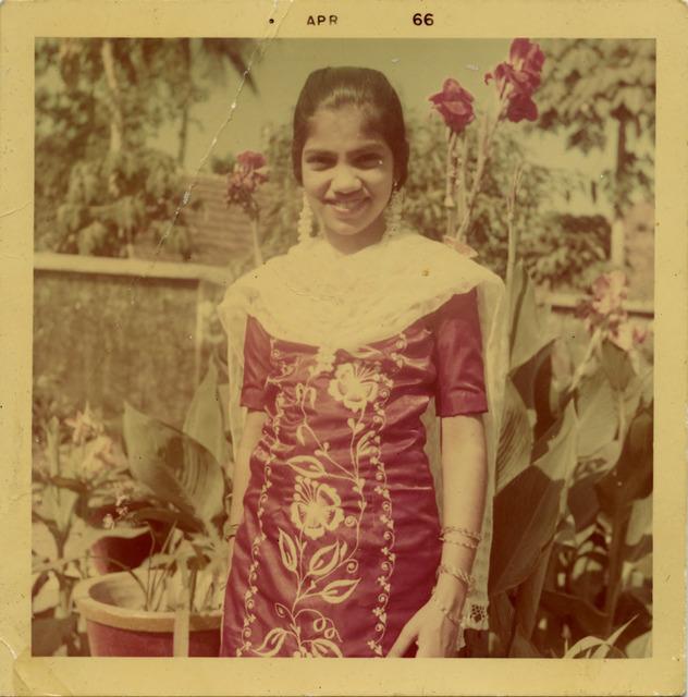 Fig. 25. Haleema Hashim, Jabeen Riaz, 1966, 6.35 x 6.35 cm., courtesy of Nihaal Faizal.