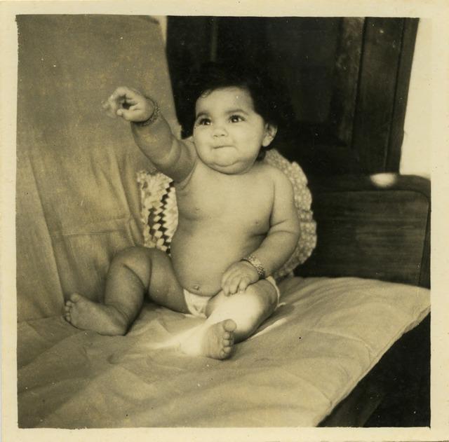 Fig. 28. Haleema Hashim, Jabeen Riaz, c.1956, 6.35 x 6.35 cm., courtesy of Nihaal Faizal.