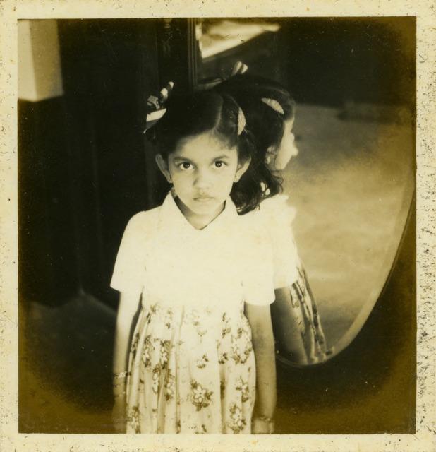 Fig. 30. Haleema Hashim, Yasmin Ismail, 1950s, 6.35 x 6.35 cm., courtesy of Nihaal Faizal.