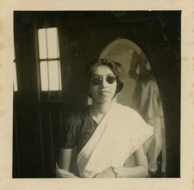 Fig. 31. Haleema Hashim, Zainab Usman, 1950s, 6.35 x 6.35 cm., courtesy of Nihaal Faizal.