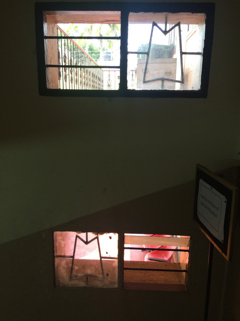 Fig. 33. Window by staircase in Yasmin Manzil in 2016, photograph by author.
