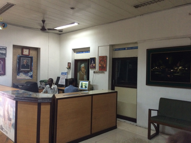Fig. 40. Reception area of photo studio in Ernakulam, 2016, photograph by author.