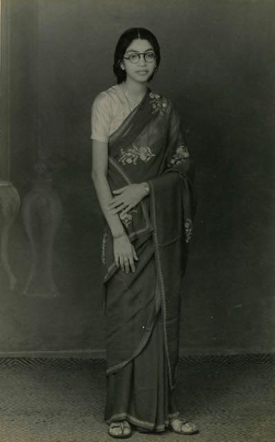 Fig. 42. Studio photograph of Zainab Usman, 1960s, courtesy of Nihaal Faizal.