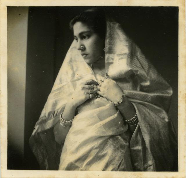 Fig. 43. Haleema Hashim, Fathima Abdulla, 1950, 6.35 x 6.35 cm., courtesy of Nihaal Faizal.