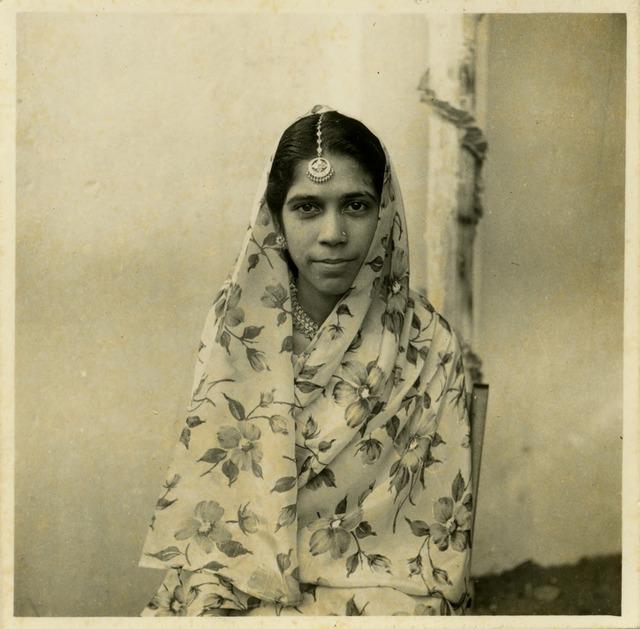 Fig. 46. Haleema Hashim, Hajira Zackria, 1960, 6.35 x 6.35 cm., courtesy of Nihaal Faizal.