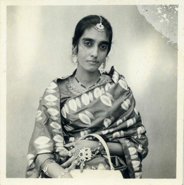 Fig. 47. Haleema Hashim, Tahira Mahmood, c.1965, 6.35 x 6.35 cm., courtesy of Nihaal Faizal.