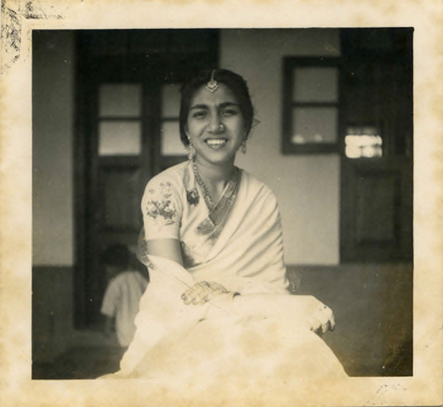 Fig. 49. Haleema Hashim, Fathima Abdulla, 1950, 6.35 x 6.35 cm., courtesy of Nihaal Faizal.