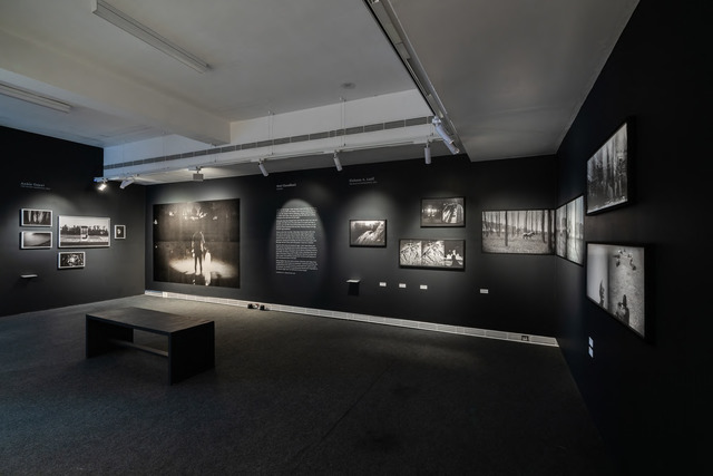 Fig. 5. Exhibition view: Ellipsis: Between Word and Image, section highlighting featured artists from PIX, Jawahar Kala Kendra, February- May 2019, Jaipur. Courtesy of Philippe Calia and Srinivas Kuruganti.