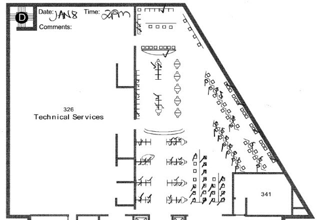 Figure 4. Sample floor plan used for data collection.