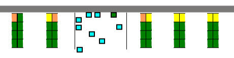 Figure 6. Section of heat map showing popular carrel seats by wall.