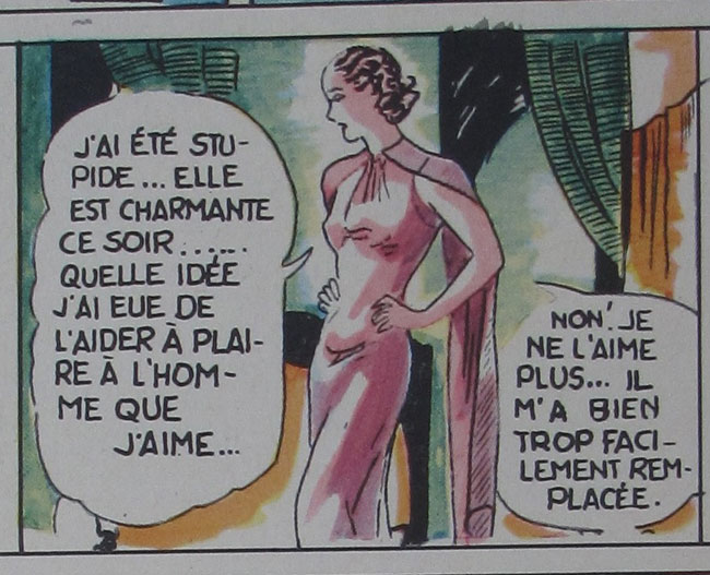 Figure 9. Simone, gorgeous and yet insecure. Confidences, 1, no. 4 (3 June 1938), 28.